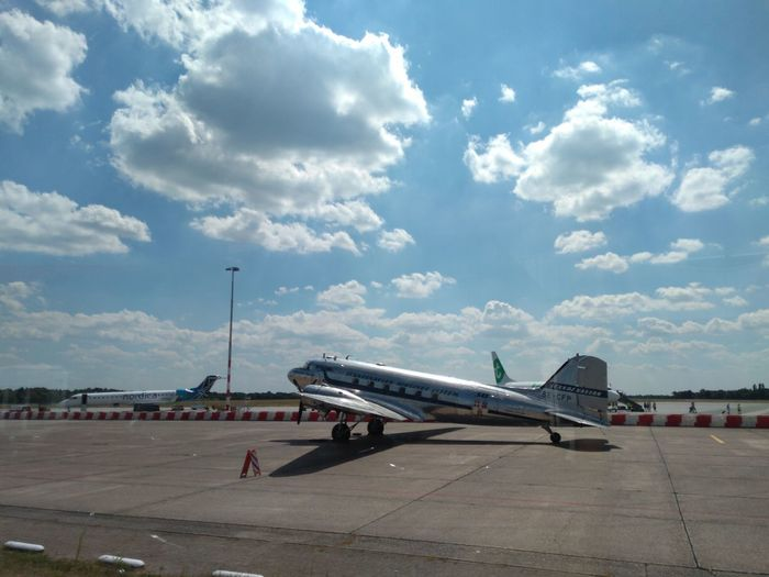 Dakota at Airport Eelde. City Airplane Commercial Airplane Airport Runway Aerospace Industry Airport Air Vehicle Business Finance And Industry Flying Sky Plane Aircraft Wing Airfield Propeller Airplane Aircraft