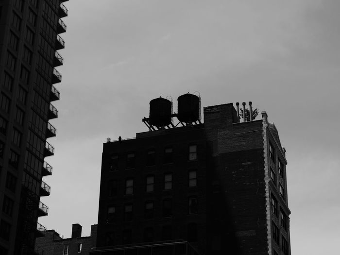 NYC Photography Architecture Black And White Photography Building Exterior Built Structure City Day Low Angle View Nyc Streets Outdoors Real People Sky Skyscraper