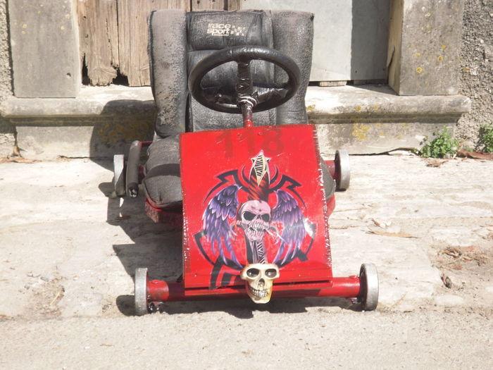 Red Auto Skullcar Weelsofdemon
