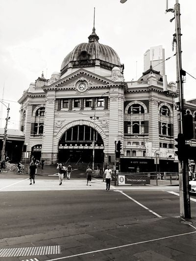 Melbourne City, Aus - Flinders St. station. Love this city. Architecture Built Structure Building Exterior Outdoors Real People Day Stories From The City City