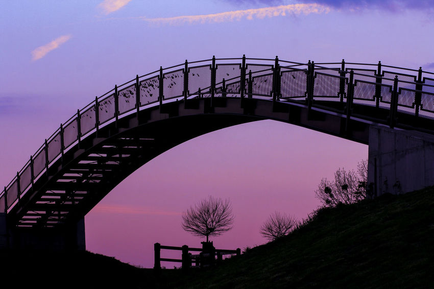 Best EyeEm Shot Arch Architecture Bridge - Man Made Structure Built Structure Clear Sky Connection Dark Photography Low Angle View Nature No People Outdoors Purple Color Purple Sky Silhouette Sky Transportation Travel Destinations Tree Under Exposure Under Exposured Photography