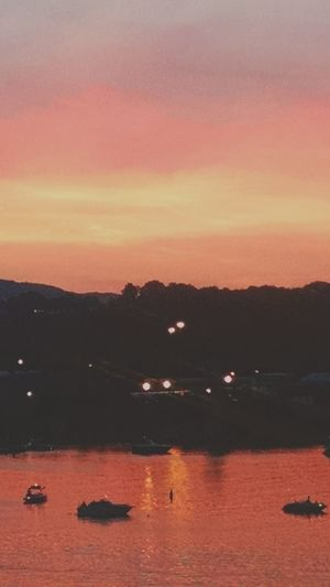 Sunset_collection Taking Photos Tennessee River  Chattanooga Tennessee Relaxing Summer Views No People Amazing_captures Red Sky Nature's Diversities
