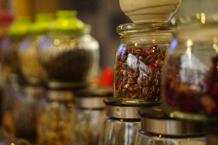 rose tea ชากุหลาบมอญ Rose Tea Crafted Beauty Jar Store Indoors  Food Business Finance And Industry Retail  Business No People Herbal Medicine Day Close-up