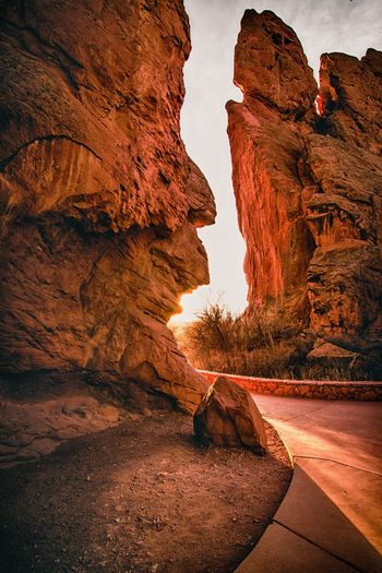 Colorado Rock Formation Rock - Object Geology Nature Travel Destinations Beauty In Nature Travel Cliff Landscape Natural Arch Scenics Physical Geography No People Outdoors Desert Day Sky Garden Of The Gods