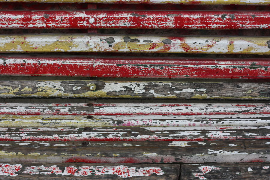 Backgrounds Close-up Day Detail Deterioration Full Frame Multi Colored No People Old Part Of Red Red Color Run-down Weathered Wood - Material