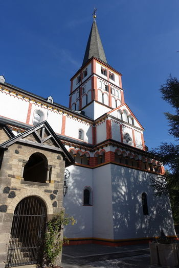Doppelkirche Schwarzrheindorf Church Clock Face Clock Architecture Sky Historic Tall - High