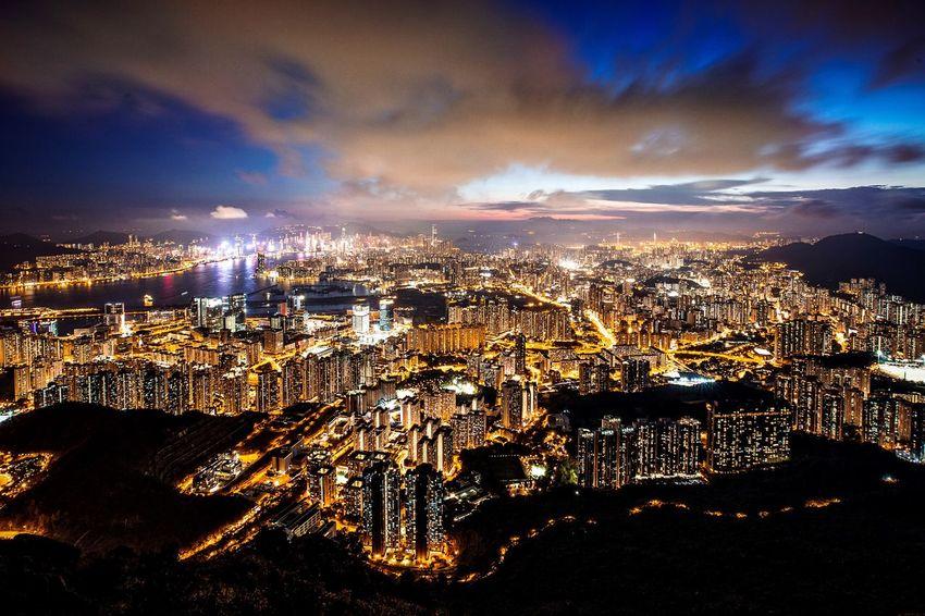 Cityscape Sky Cloud - Sky Building Exterior Night HongKong