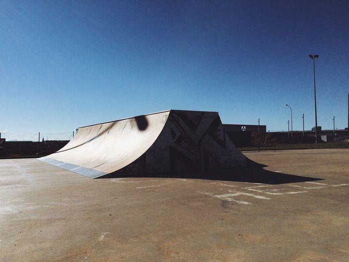 Ramp in skatepark