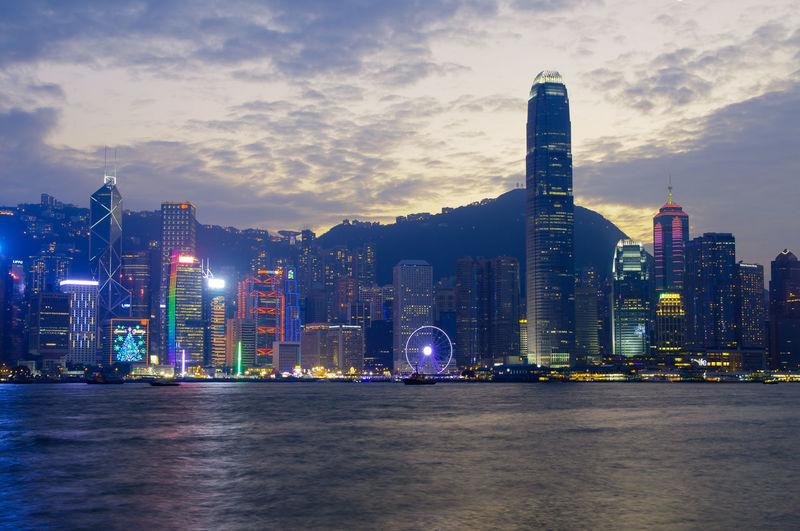 City Hong Kong Architecture Hong Kong City Hong Kong Skyline HongKong Night Outdoors Ships⚓️⛵️🚢