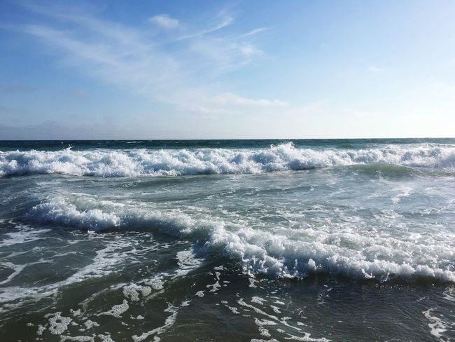 Sea Sky Water Beauty In Nature Scenics - Nature Horizon Over Water Horizon Tranquil Scene Wave Motion Beach Land Tranquility Nature Day No People Cloud - Sky Idyllic Outdoors