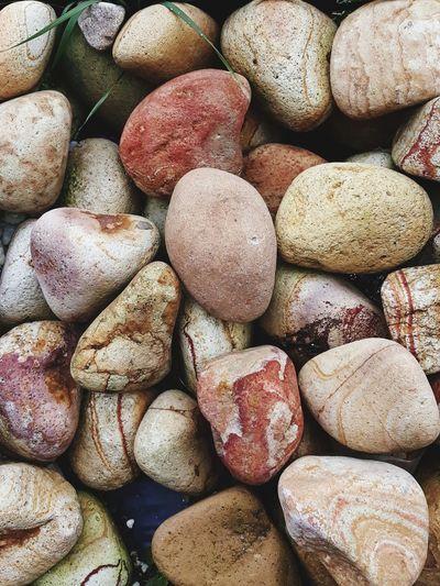 Full frame shot of stones