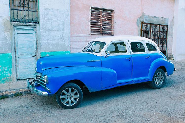 old blue car II