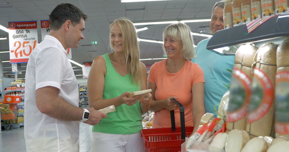 Group of people at store