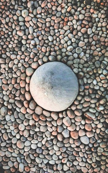 oh so stoned! Backgrounds Full Frame Textured  Pebble Circle Close-up Geometric Shape Circular