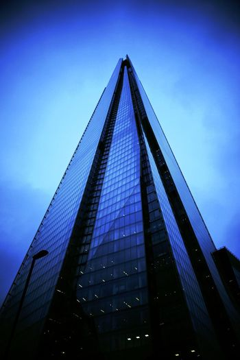 Architecture Blue Building Exterior Built Structure Day Low Angle View Modern No People Outdoors Shard Shard London Bridge Sky Skyscraper Sony SONY A7ii