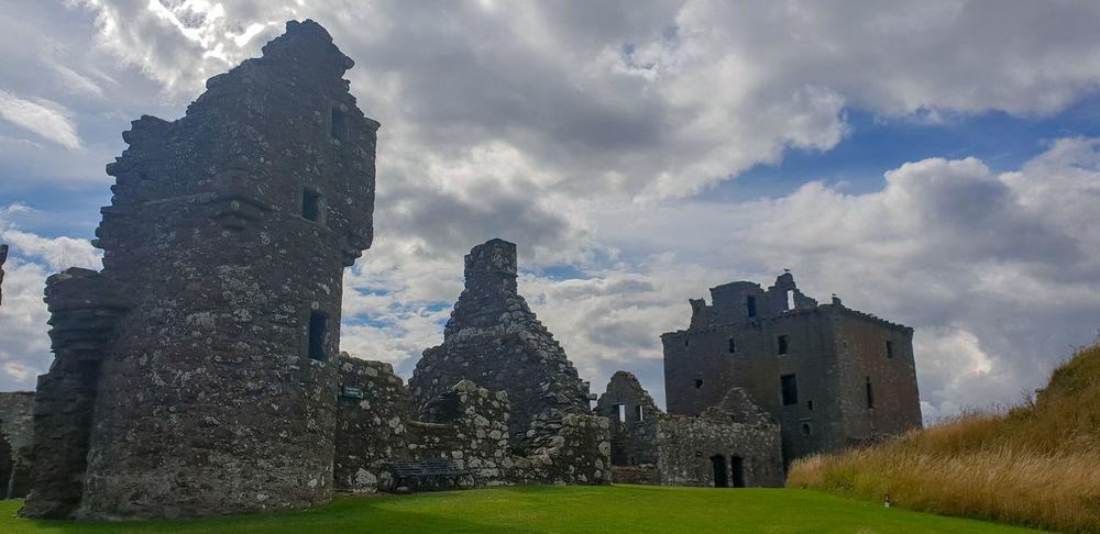 Dunnottar Castle Scottish History Castle Sky Architecture Grass Building Exterior Cloud - Sky Historic Old Ruin