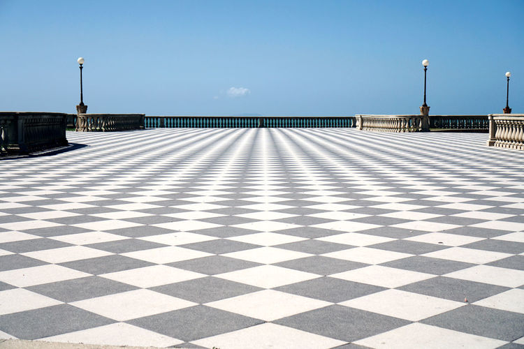 Checked Pattern Walkway At Terrazza Mascagni Against Sky