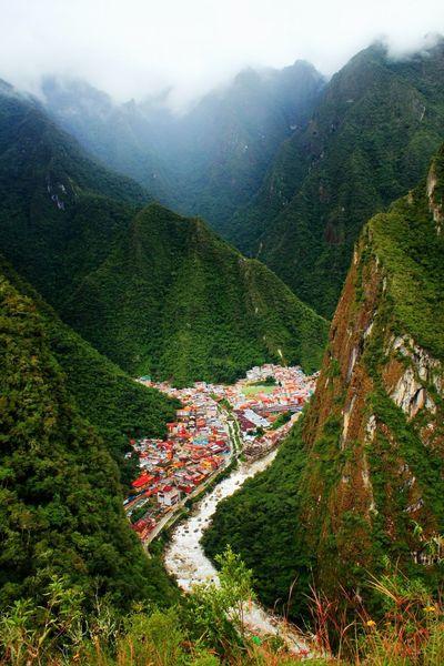 Aguas Calientes Peru Mountains Small Town Feel Dreamy