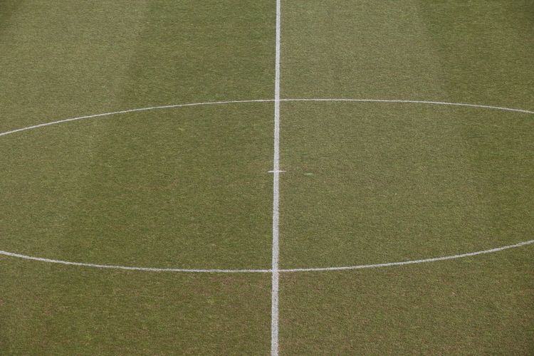 Soccer Field Soccer Inner Circle Turf Lines Day Outdoors No People Soccer Stadium Sport