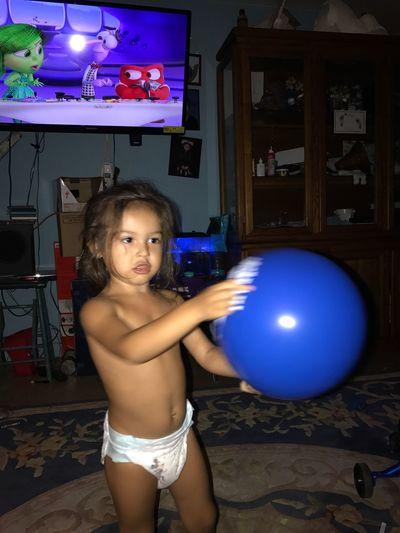 Grandson loves balloons