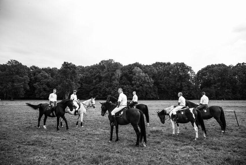 Autumn Brandenburg Byhleguhre Hahnrupfen Boys Germany Horseback Riding Lusatia Real People Village Life Young Men