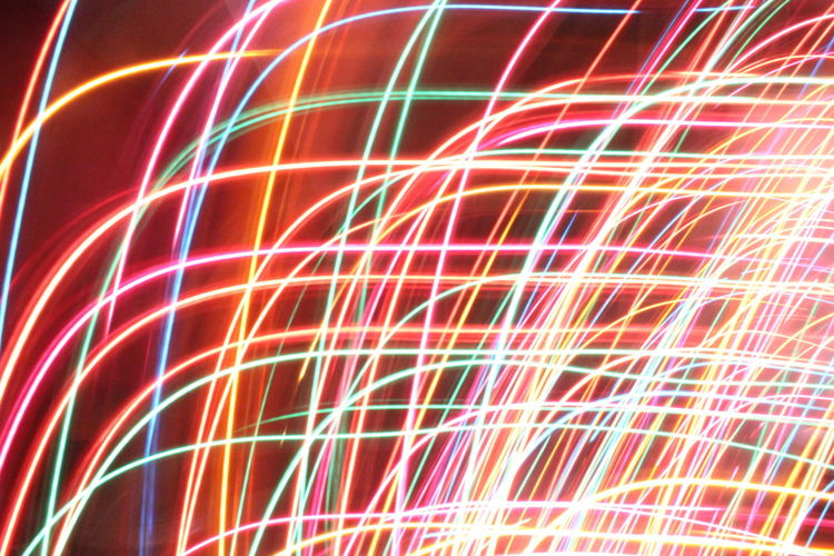 Colors And Patterns Glowing Long Exposure Abstract Multi Colored Pattern Motion Illuminated Close-up Lighting Equipment Backgrounds Red Art Light Trail Colorful Night Ideas Full Frame Creativity Neon Light Light Painting