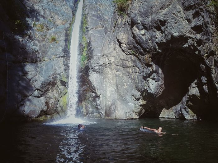 Games at fall Water Motion Spraying Waterfront Waterfall Vacations Tourism Splashing Fountain Tourist Nature Scenics Rock Formation Outdoors Cliff Day Beauty In Nature Majestic Non-urban Scene Sea