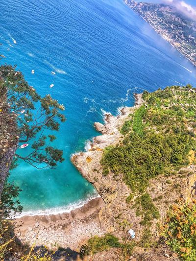 Amazing View Amalfi Coast Water High Angle View Nature Sea Day Beauty In Nature Land Blue Beach Tranquility Outdoors No People Scenics - Nature Sunlight Tranquil Scene Pool Swimming Pool Underwater Turquoise Colored Sport First Eyeem Photo