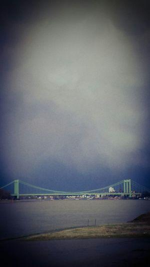 Clouds And Sky Clouds Bridge River River Rhine