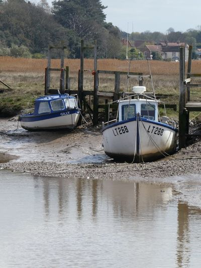 Thornham Eyem Best Shots Nature_collection Eyemphotography EyEmNewHere EyeEm Nature Lover Copy Space Water Transportation Nautical Vessel Mode Of Transportation Moored Nature Day No People Reflection Waterfront