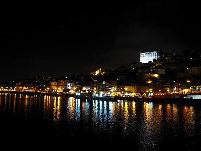 from Porto with love..... Night Nightphotography Night Lights Night View Portugal Porto Portugal 🇵🇹 Illuminated Reflection Sky Outdoors Water No People Nightlife City Architecture An Eye For Travel Colour Your Horizn The Traveler - 2018 EyeEm Awards HUAWEI Photo Award: After Dark My Best Photo