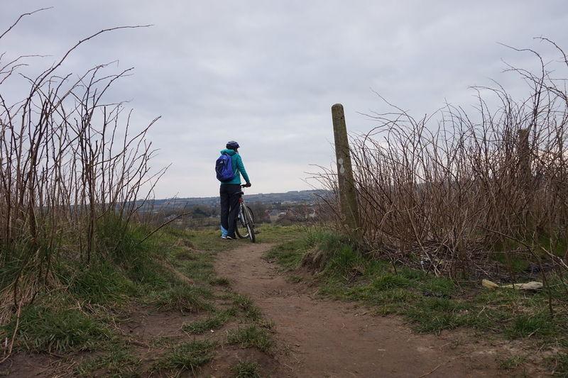 Biking Field Grass Healthy Landscape Nature Sky Swindon The Way Forward