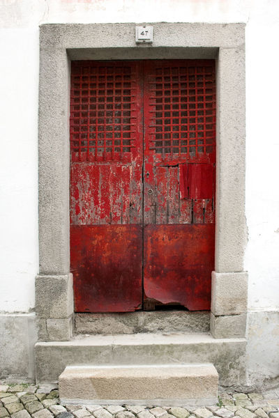 Castelo Branco Portugal Architecture Building Exterior Door No People Red Red Color Wood - Material