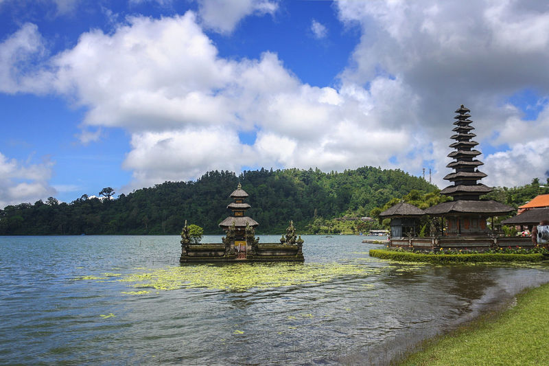Bali, Indonesia Beauty In Nature Bedugul Blue INDONESIA Nature No People Outdoors Place Of Worship Tourism Tourism Destination Tranquil Scene Travel Travel Destinations Travel Photography Water Waterfront