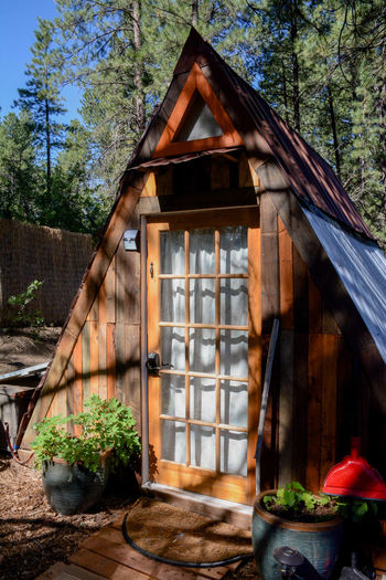 A Frame Utah Zion National Park Architecture Building Building Exterior Built Structure Day Forest Growth House Land Nature No People Outdoors Plant Sunlight Timber Tree Window Wood Wood - Material