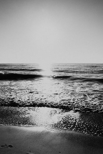 Sea Water Horizon Over Water Beach Beauty In Nature Nature Clear Sky Scenics Outdoors No People Wave Sand Motion Tranquility Sky Tranquil Scene Day
