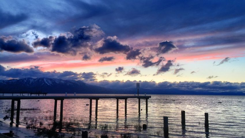 Tahoe Laketahoe Sunset Summer Lake Lake View California Southshore IPhone