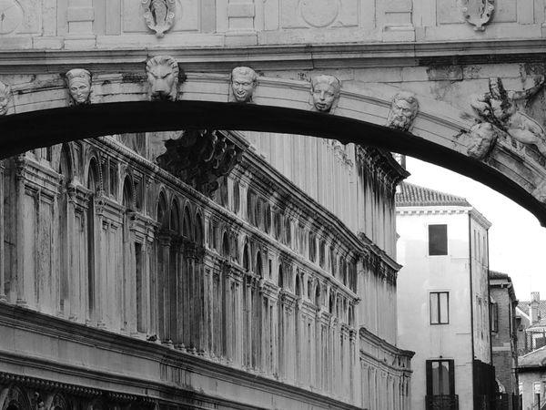 Architecture Black & White Black And White Blackandwhite Building Exterior Built Structure Day No People Outdoors Ponte Dei Sospiri Ponte Dei Sospiri Venezia Ponte Dei Sospiri Venice Window
