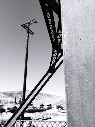 """Lone Pole Standing"" Telephone Pole Powerpole Bridges Trainyard Black And White Blackandwhite Photography"