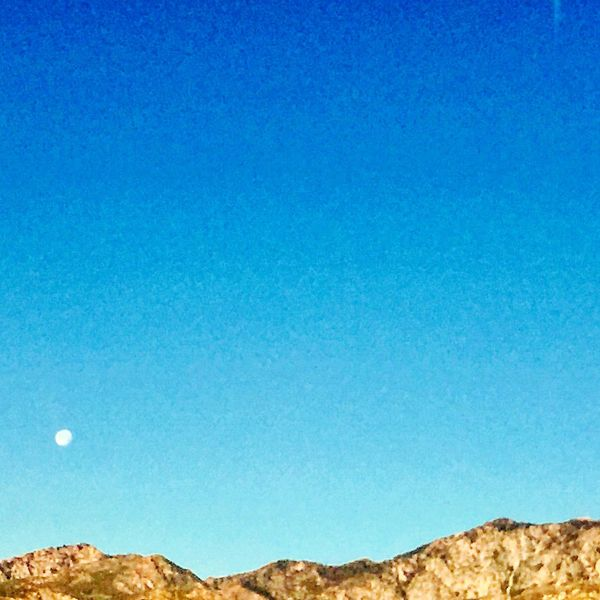 Desert mountains Nature Beauty In Nature Blue Clear Sky Moon Outdoors Sky Mountains From Where I Stand Palm Springs California Love First Eyeem Photo