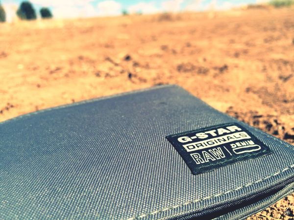 denim brand Close-up Day Outdoors Nature Wallet G Star Raw Ground