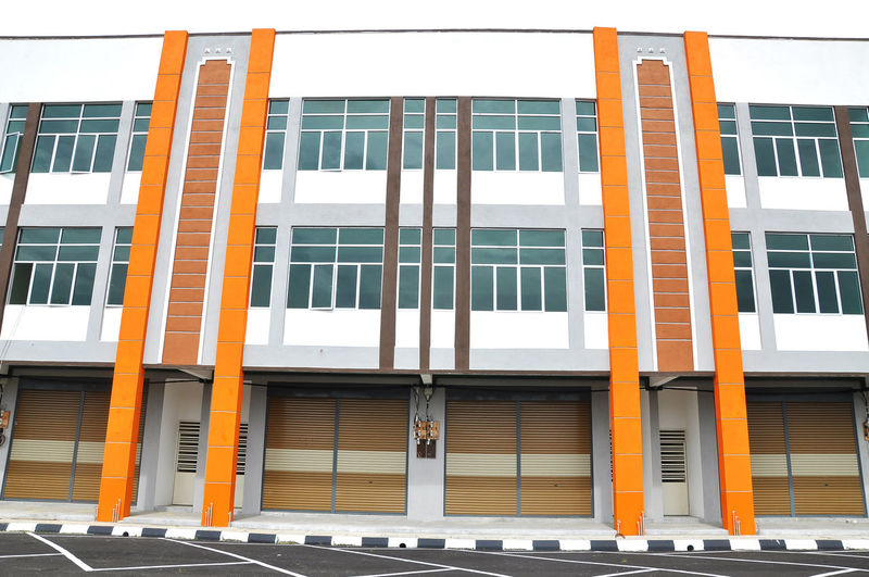 New modern built 2 storey shophouse ready for rent Architecture Building Building Exterior Built Structure Business Commercial Construction Contractor Day Decoration Design Exterior No People Office Outdoors Shophouse Store Street Townhouse Urban