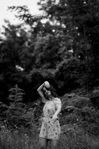 girl dancing in nature Portrait EyeEm EyeEm Best Shots EyeEmNewHere EyeEm Gallery Eyeem Market Bnw Blackandwhite Shadows Illuminated Dancing Nature_collection Nature Beautiful Nature Focus On Foreground Young Adult Outdoors Day Clothing Teenager People Lifestyle Lifestyles Life Tree Women Posing Hair Toss Tousled Hair Tangled Hair Monochrome