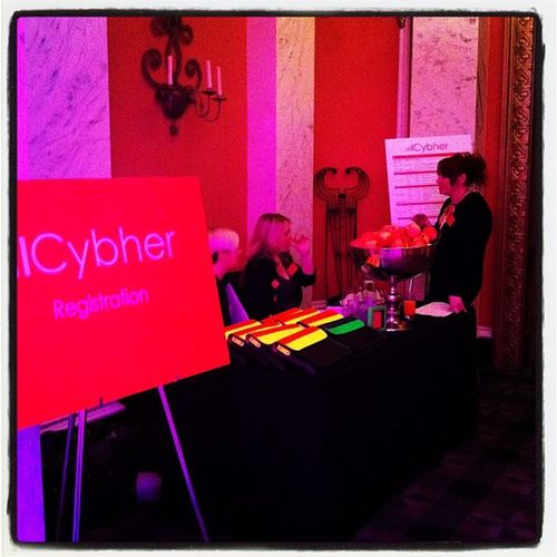 Registration at #cybher Cybher