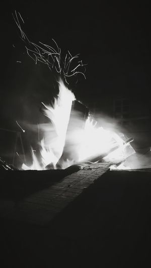 Blurred motion of fire