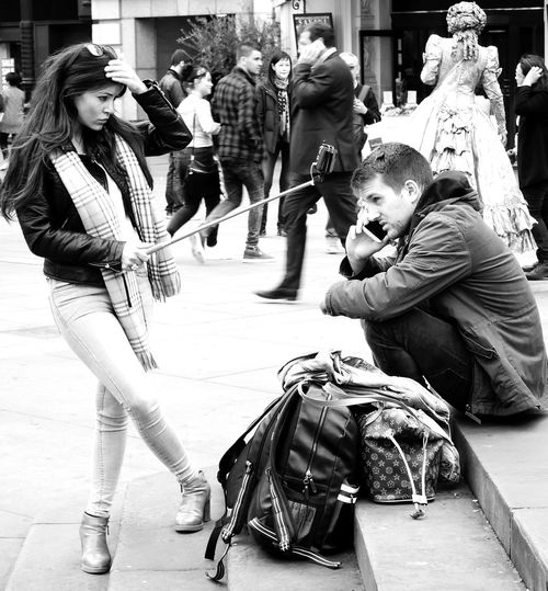 Look At Me Mobile Photography Narcissism No More Selfies No More Selfies For Me Piccadilly Circus ❤ Selfie Selfie Stick Street The Street Photographer - 2017 EyeEm Awards