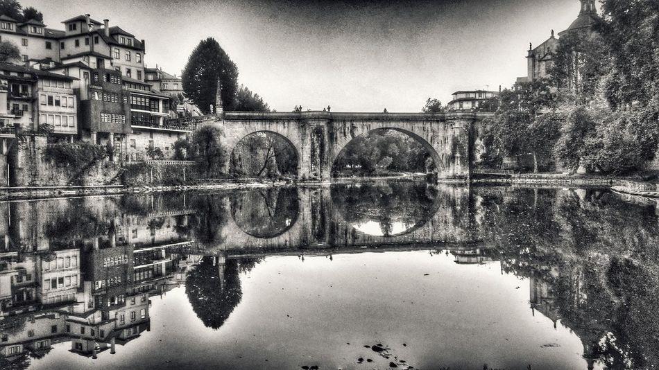 Portugal ☆ Bridge Monochrome Water Reflections