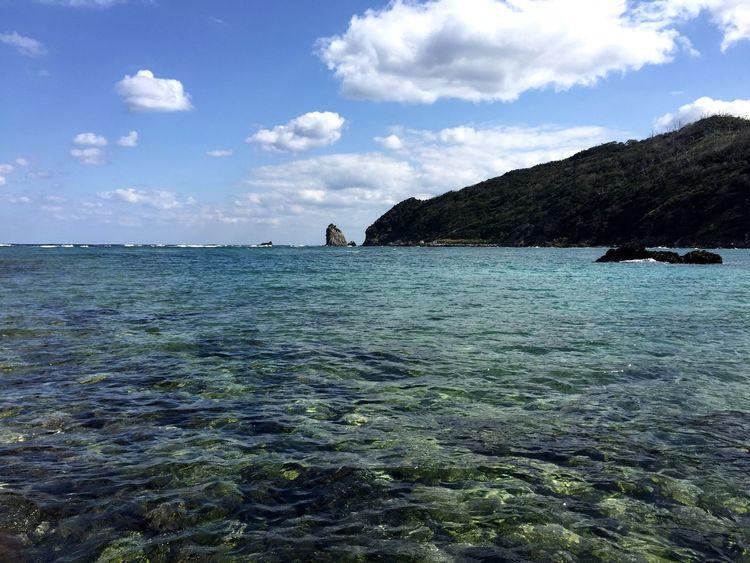 Sea Water Nature Rock - Object Scenics Sky Beauty In Nature Tranquil Scene Outdoors Idyllic Tranquility No People Day Beach Cloud - Sky Winter Sea Amami Island