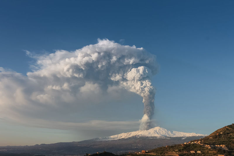 Catania Mountain Sky Beauty In Nature Smoke - Physical Structure Scenics - Nature Volcano Geology Cloud - Sky Non-urban Scene Erupting Physical Geography Environment Landscape Power Active Volcano Nature Day Power In Nature No People Land Emitting Outdoors Volcanic Crater Mountain Peak Formation