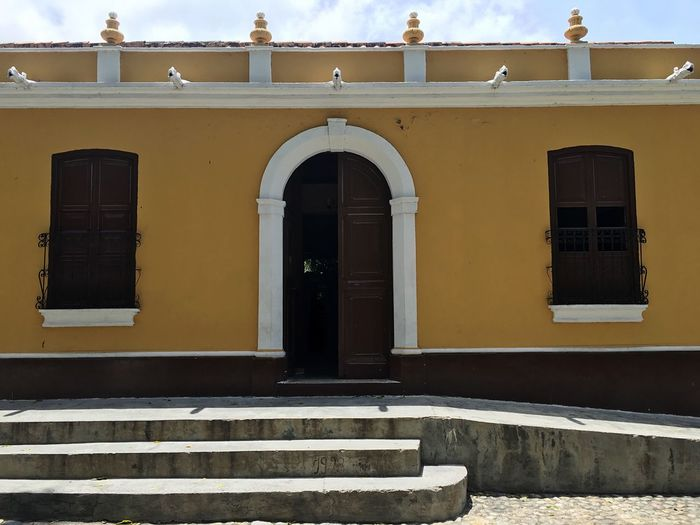 Colonial Architecture Colonial Style Town Architecture Choroni_Vnzla Choroni Building Exterior Architecture Built Structure Window Outdoors Day Arch Sky No People